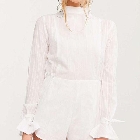 Alessa Long-Sleeve Mock-Neck Romper