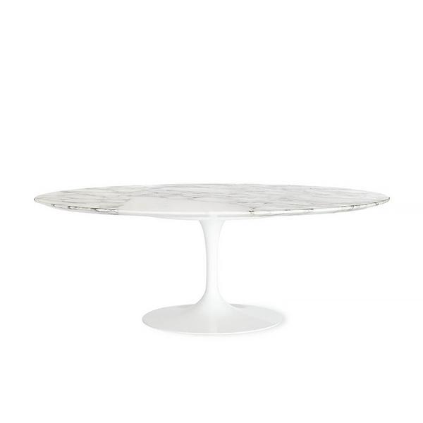 Matt Blatt Replica Eero Saarinen Oval Tulip Dining Table in Marble