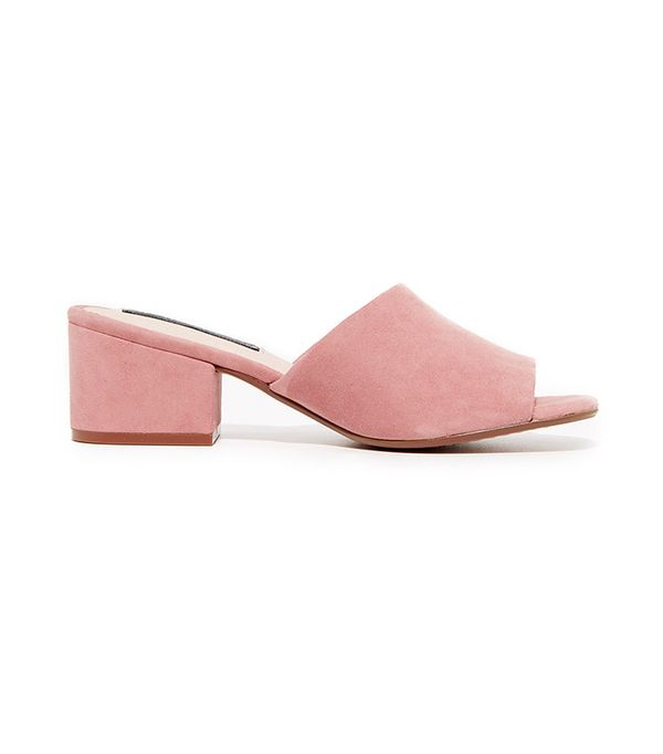 best pink suede mules