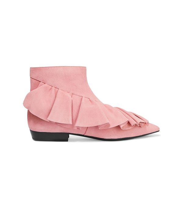best ruffled ankle boots