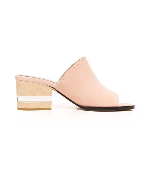 best block heel pink mules