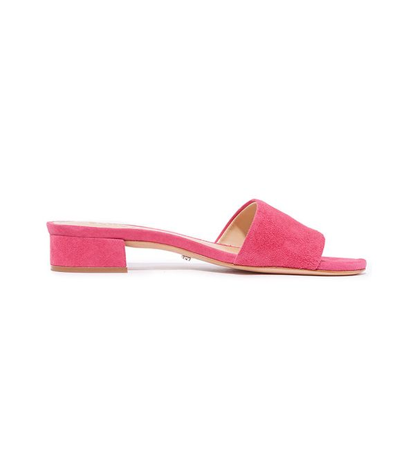 best pink suede slides