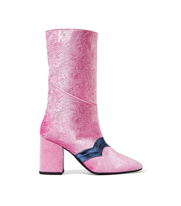 best velvet pink boots