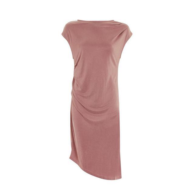 Topshop PETITE Blush Asymmetric Dress