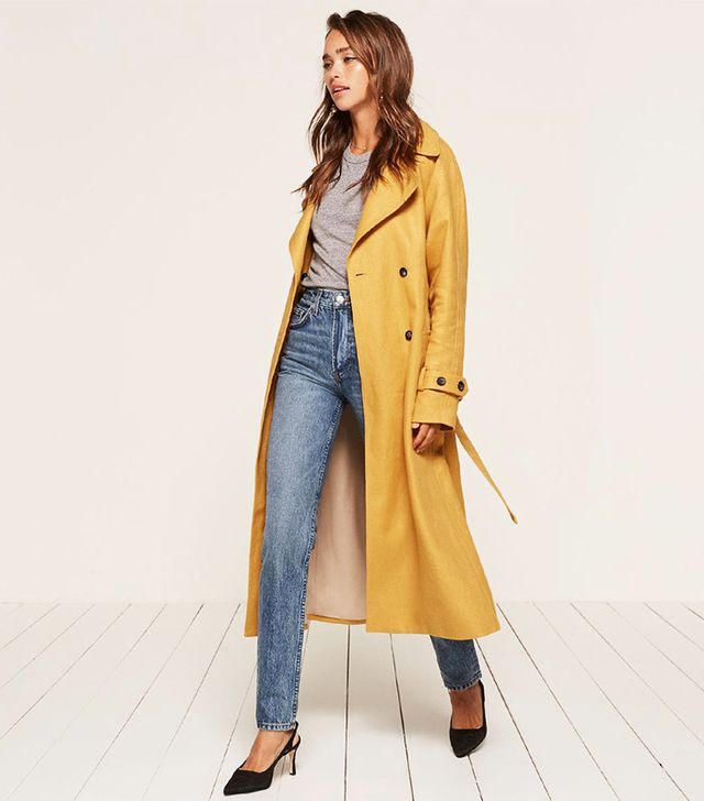 best yellow trench coat