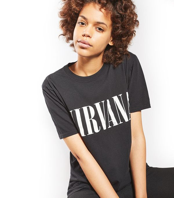 best black nirvana band tee