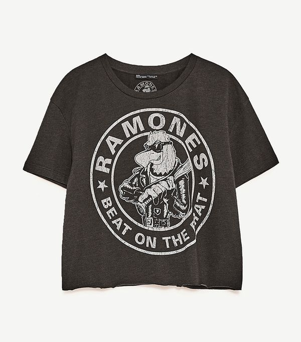 best black ramones band tee