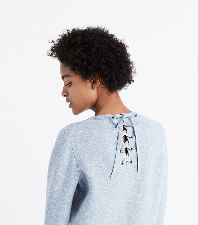 Lace-up back Sweater