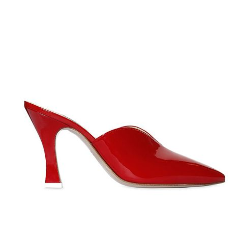 80MM Patent Leather Mules