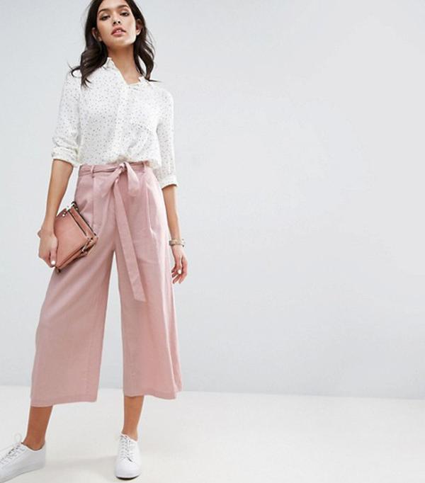 blush linen pants