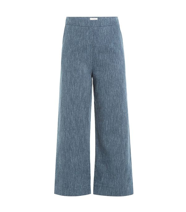 Blue cropped pant