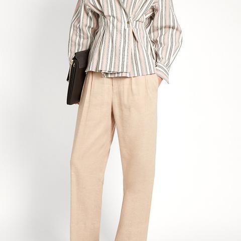 Nyoka Wide-Leg Linen Trouser