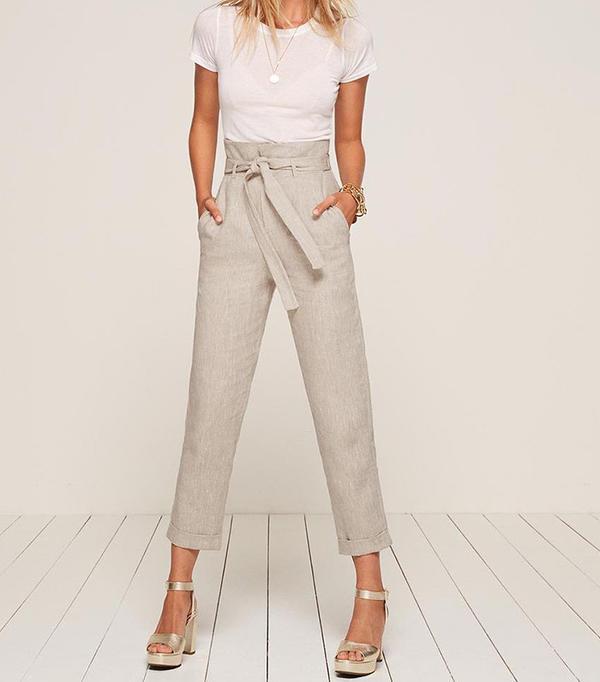 high waisted linen pant
