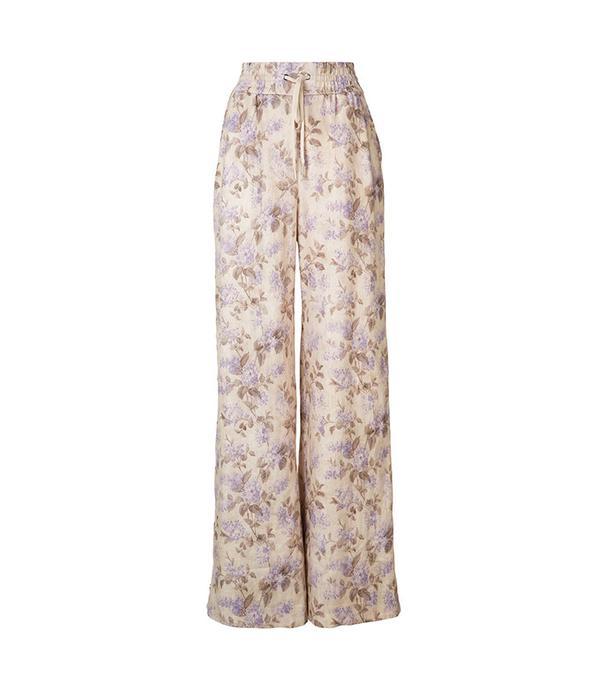 floral wide leg pant