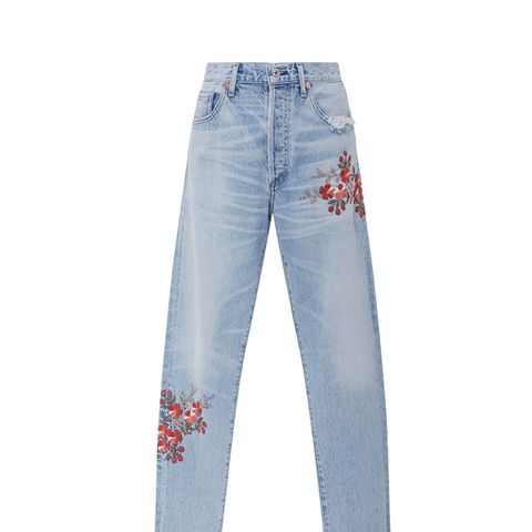 Liyra High Rise Floral Jeans