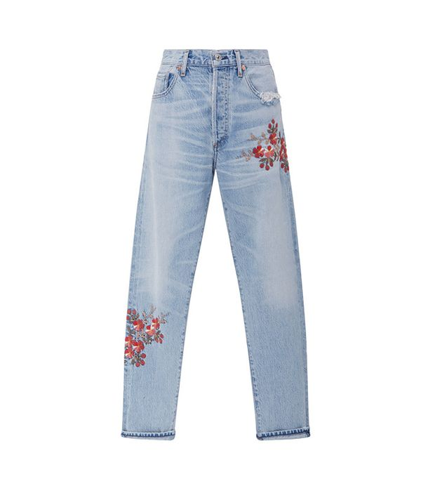 best high rise floral jeans