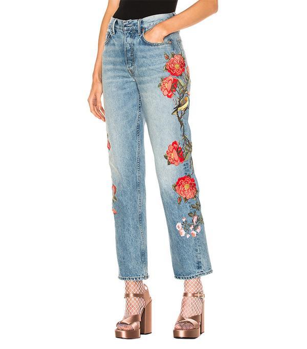 best rose embellished jeans