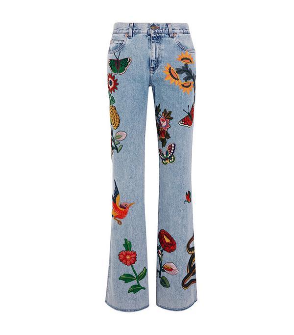 best flared embellished jeans
