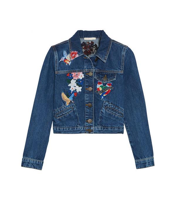 best embroidered denim jacket