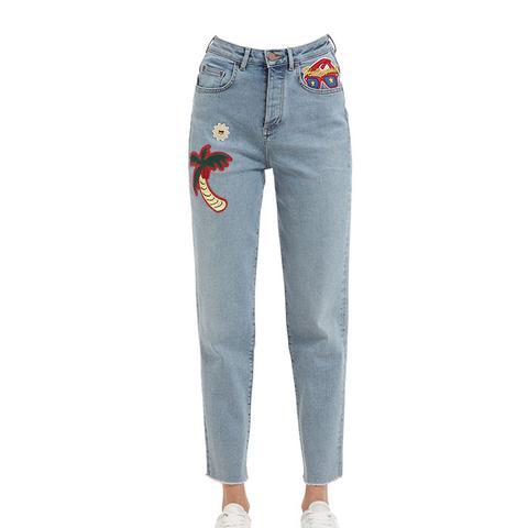 Girlfriend Fit Denim Jeans