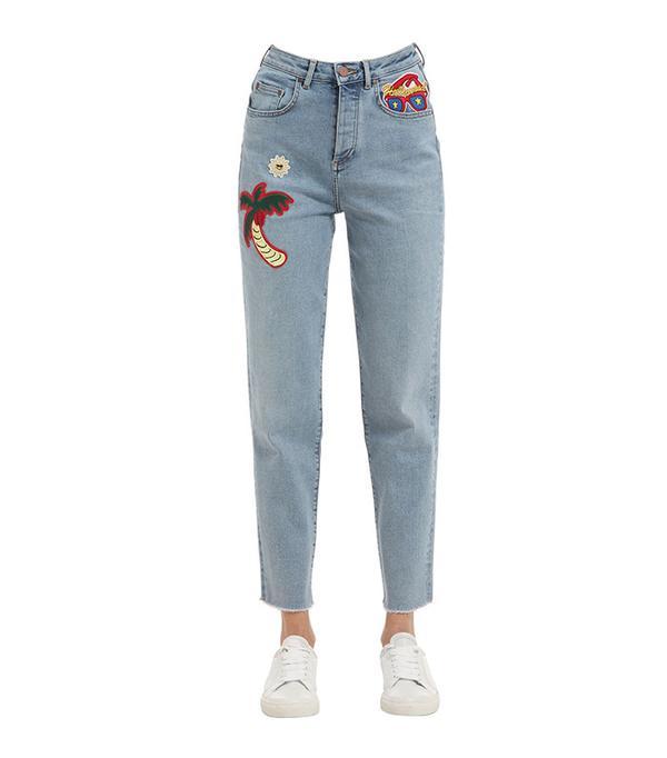Gigi hadid patch jeans