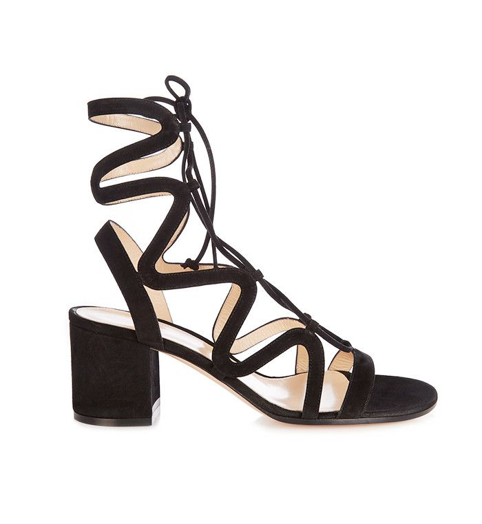 Lace-Up Suede Sandals by Gianvito Rossi