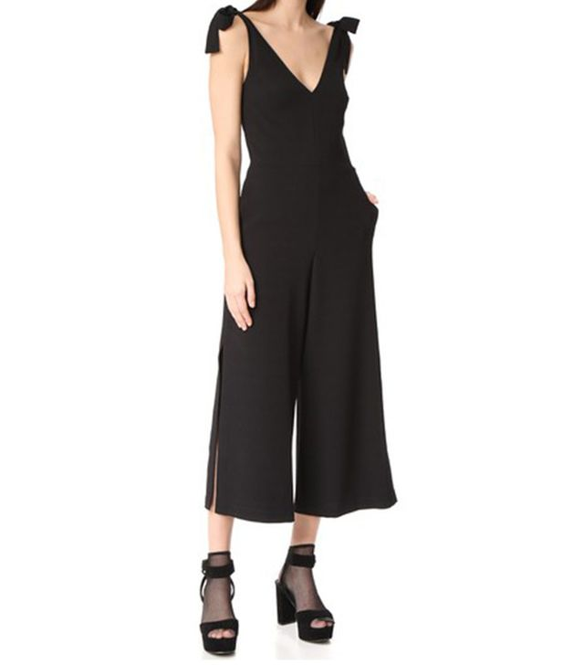 black bridesmaid jumpsuit