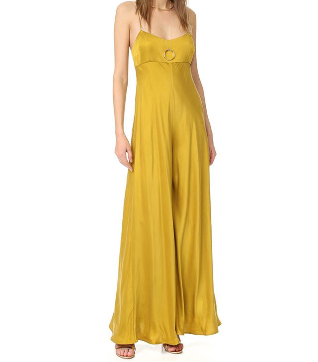 yellow party jumpsuit