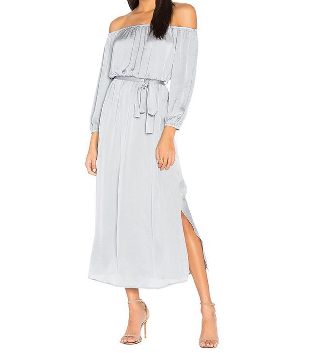 off shoulder bridesmaid dress