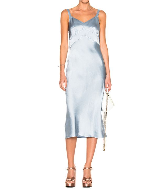 best blue slip dress