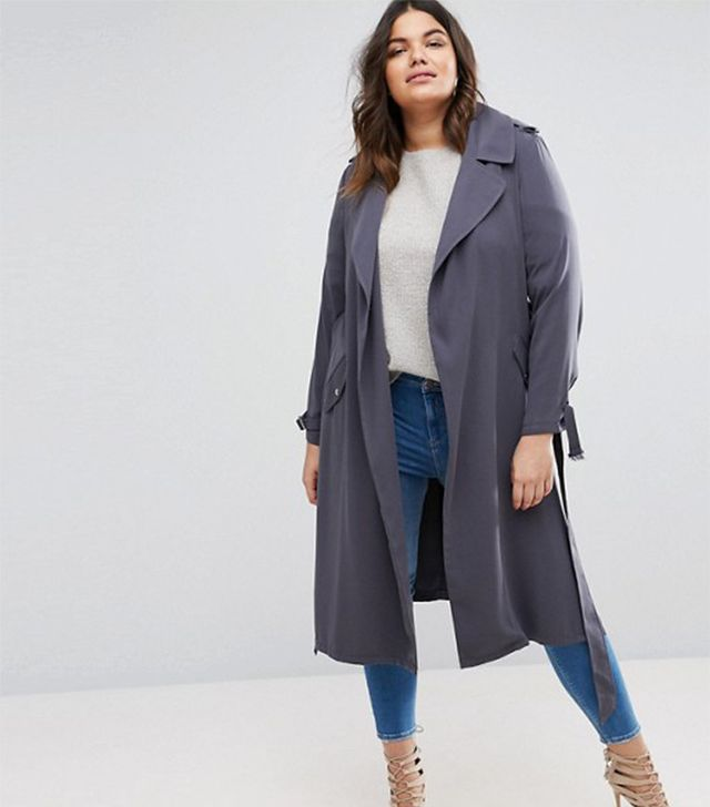 River Island Plus Jersey Duster Coat