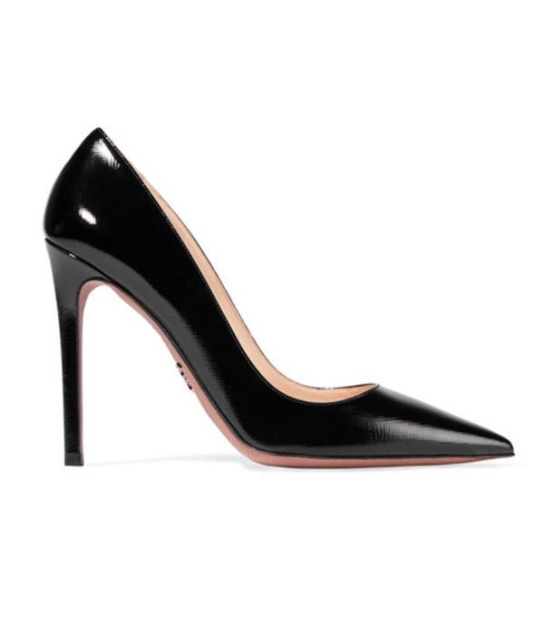 Best black heels: Prada