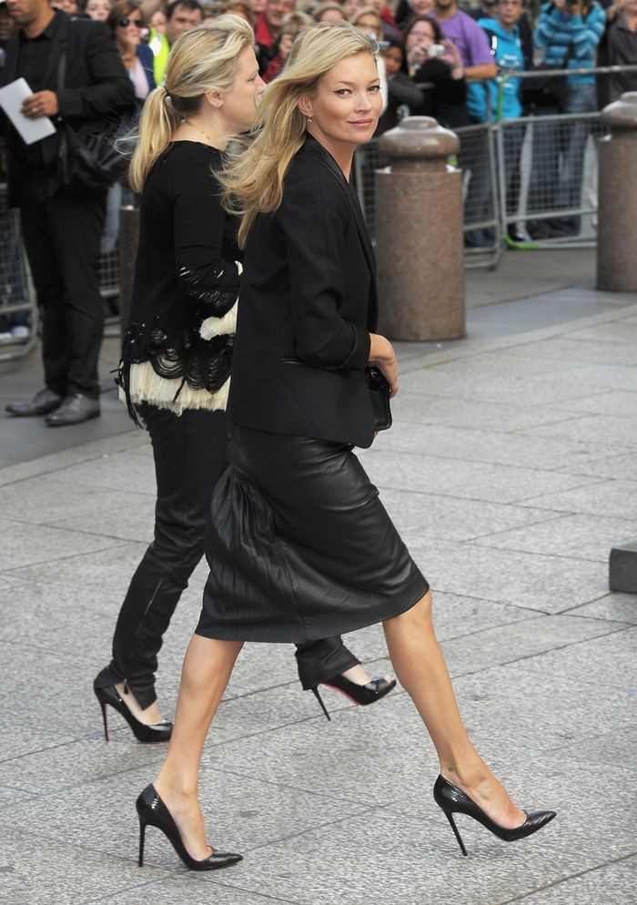 Best black heels: Kate Moss in black heels