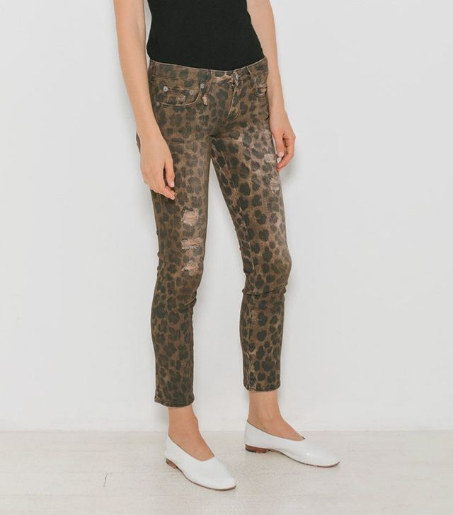 R13 Kate Skinny Leopard