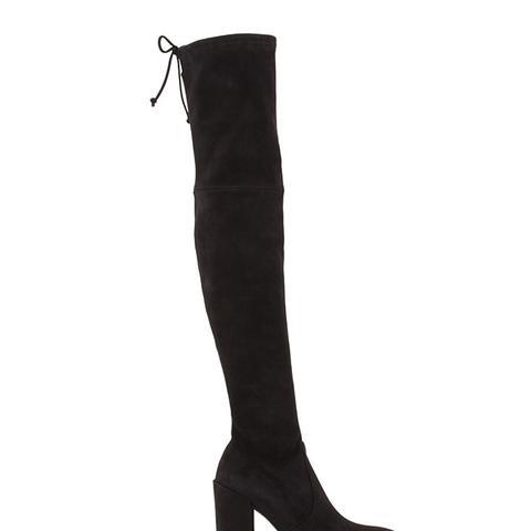 Highstreet Suede Chunky-Heel Over-The-Knee Boot