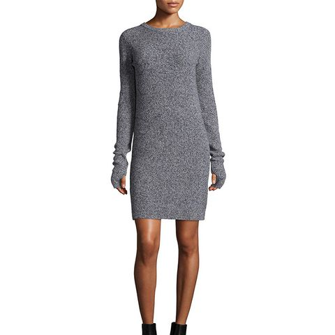 The Easy Long-Sleeve Sweaterdress