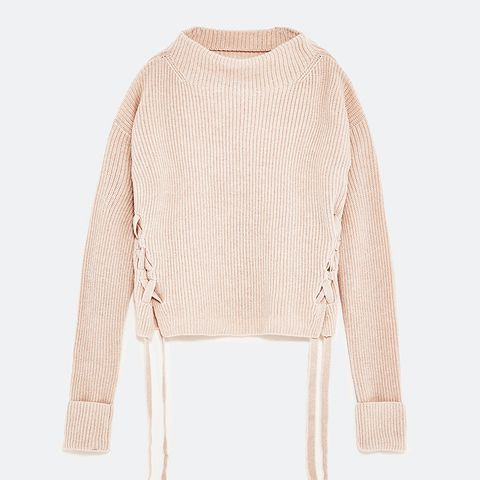 Cashmere Sweater With Tied Detail