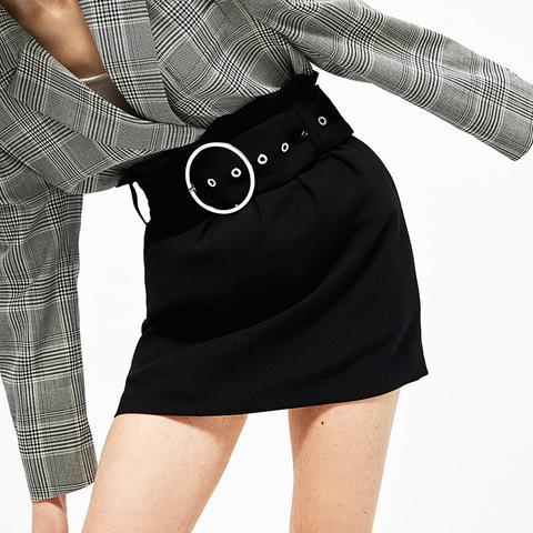 Buckled Mini Skirt