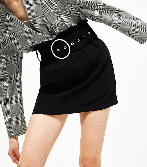 Zara Buckled Miniskirt