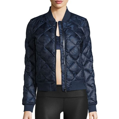 Idol Camo Quilted Active Bomber Jacket