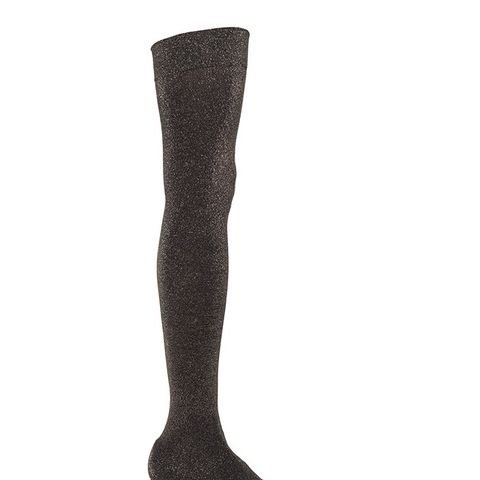 Less Is More Metallic Jersey Over-the-Knee Boots