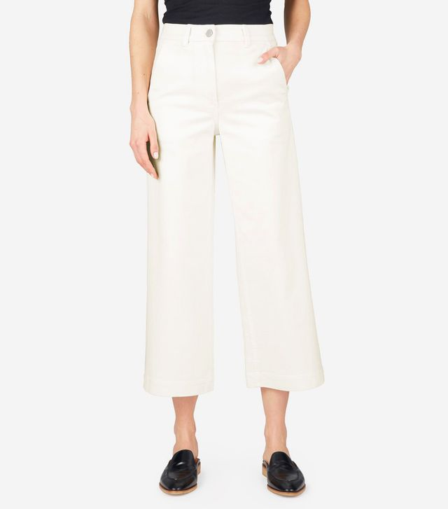 best cropped white pants