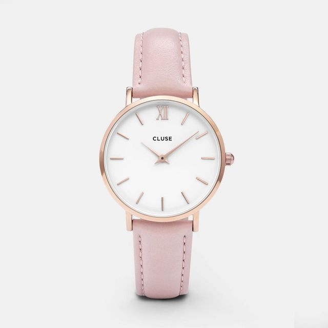 Cluse Minuit Rose Gold Pink Watch