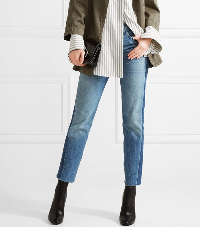 Shadow jeans trend: 3X1 Von Cropped Mid-Rise Straight-Leg Jeans