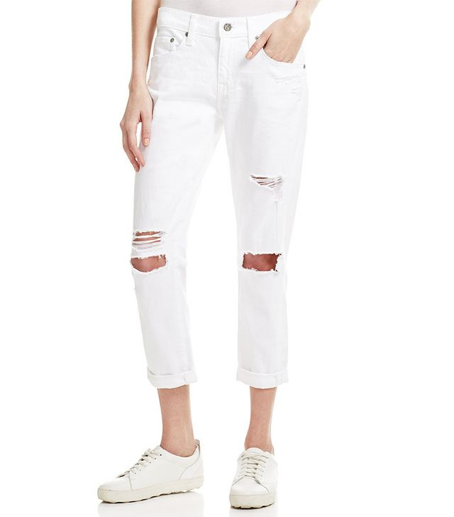 best ripped white boyfriend jeans