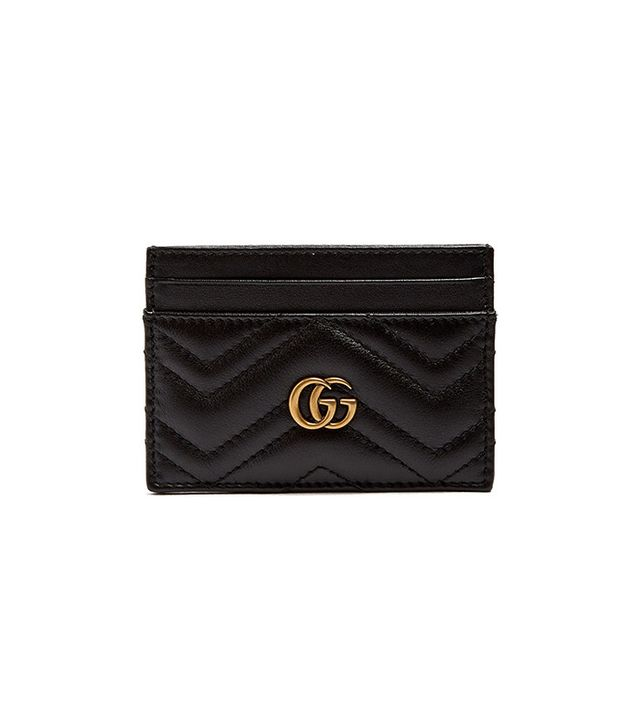 Gucci GG Marmont Quilted-Leather Cardholder