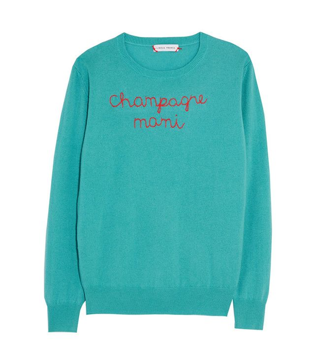 funny embroidered Sweater