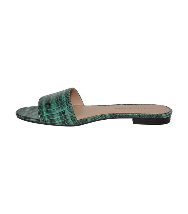 Who What Wear Women's Ava Exotic Print Slide Sandals