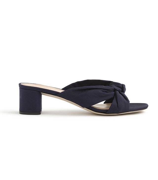 J.Crew Knotted Slides in Silk Faille