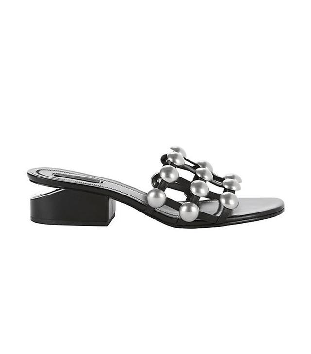 Alexander Wang Lou Studded Slide Sandals